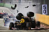 Big Bird Rear Ended Driving Firey Indianapolis 500 Crash (Volatility Research) 1000w