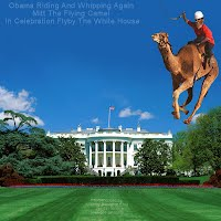 Obama Riding And Whipping Again Mitt The Flying Camel In Celebration Flyby The White House (Volatility Research) 1000w