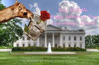 Obama Delivers His Valentines Present To Michelle By Flying Camel Courier (Volatility Research) 1000w