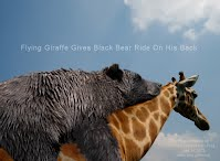Flying Giraffe Gives Black Bear Ride On His Back (Volatility Research) 1000w