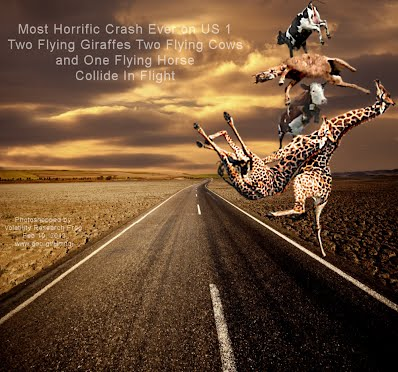 Most Horrific Crash Ever on US 1 Two Flying Giraffes Two Cows and One Horse Collide In Flight (Volatility Research) 1000w