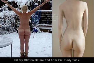 Hillary Clinton Before and After Full Body Tuck  (Volatility Research) 1000w