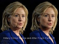 Hillary Clinton Before and After Frogs Face Lift (Volatility Research) 1000w
