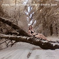 Hillary Clinton Directing Traffic In Bikini In Snow (Volatility Research) 1000w