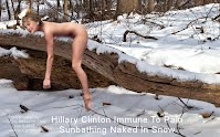 Hillary Clinton Immune To Pain Sunbathing Naked In Snow (Volatility Research) 1000w