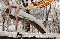 Hillary Clinton Chillin Out Max Naked In Snow Giraffe Trying To Kiss Her New Butt (Volatility Research) 1000w