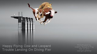 Happy Flying Cow and Leopard Trouble Landing On Diving Pier (Volatility Research) 1000w