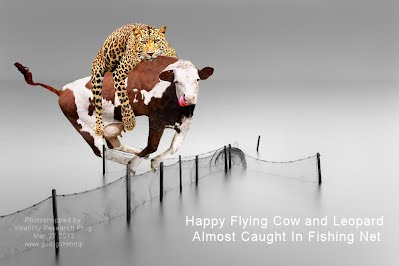 Happy Flying Cow and Leopard Almost Caught In Fishing Net (Volatility Research) 1000