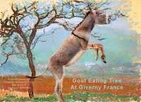 Goat Eating Tree At Giverny France (Volatility Research) 1000w