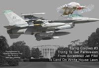 Flying Chicken #3 Trying To Get Permission (Dusk) From Scrambled Jet Pilot To Land On White House Lawn (Volatility Research) 1000w3
