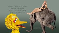 Hillary Clinton In Bikini Riding Elephant After Full Body Tuck Big Bird Watching (Volatility Research) 1000h