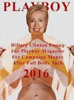 Hillary Clinton Posing For Playboy Magazine For Campaign Money After Full Body Tuck (Volatility Research) 1000h16