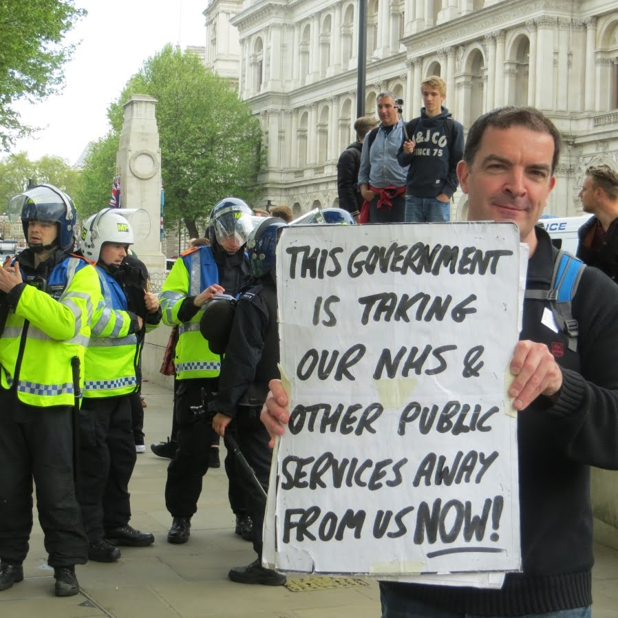Colin at the March Against Austerity