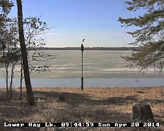 Webcam Whitefish Chain, Lower Hay lake