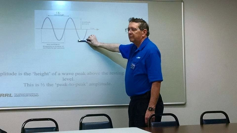 Warren Amateur Radio Society President Rich Rogers, AA0RR, teaches a  technician level licensing class recently at the Warren County Emergency  Management ...