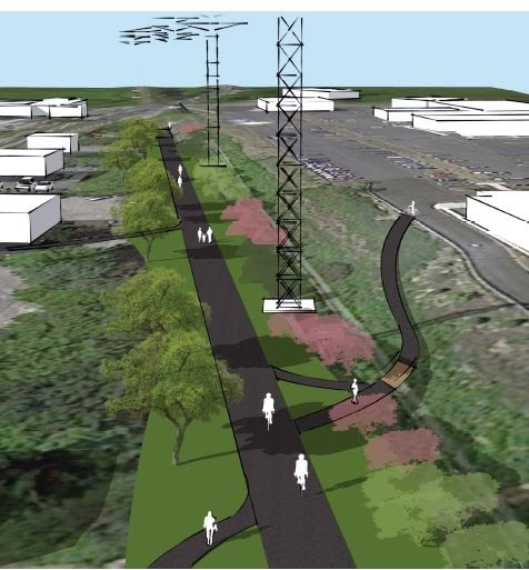 Proposed Bike Path in Town Center