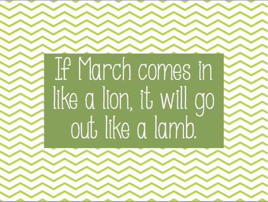 March Comes In Like And Goes Out Like >> If March Comes In Like A Lion It Will Go Out Like A Lamb Weather