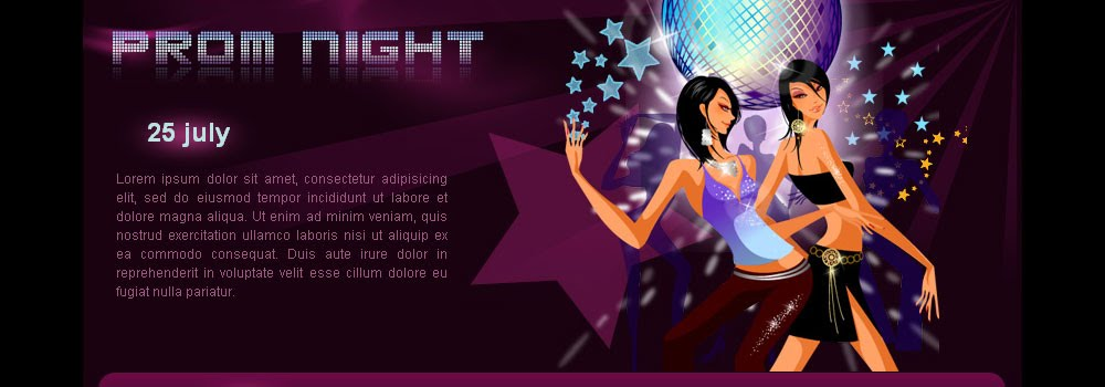 Free Night Prom Web Template