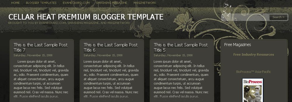 Free Magzine Style Blogger Template