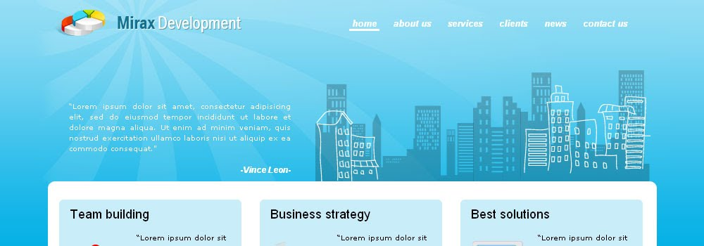 Free Blue Business Template