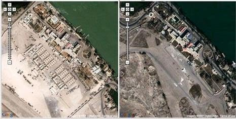 Google Map: British headquarter in Basra