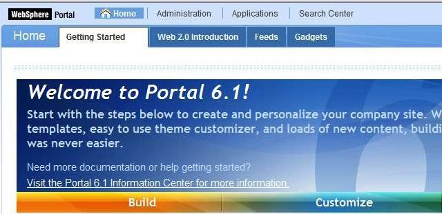 WebSphere Portal Console