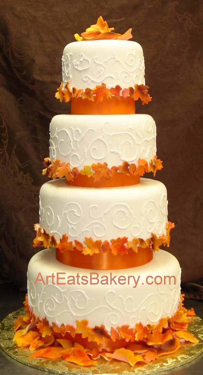 wedding cake fall designs four tier fondant wedding cake ideas designs and 22592