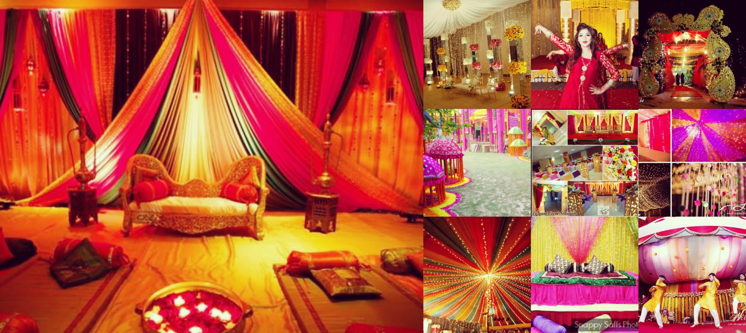 Holud stage decoration for Decoration photo