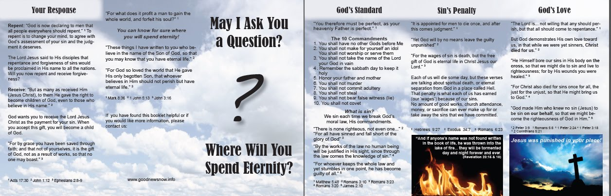 graphic about Free Printable Gospel Tracts called Gospel Tract Downloads and Backlinks - In a position Ambador for
