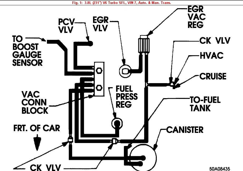 Vacuum Lines Whatwazithinking. This Is The Diagram On How I Plan To Run Vacuum Lines For My Car. Buick. 1987 Buick Grand National Head Diagram At Scoala.co