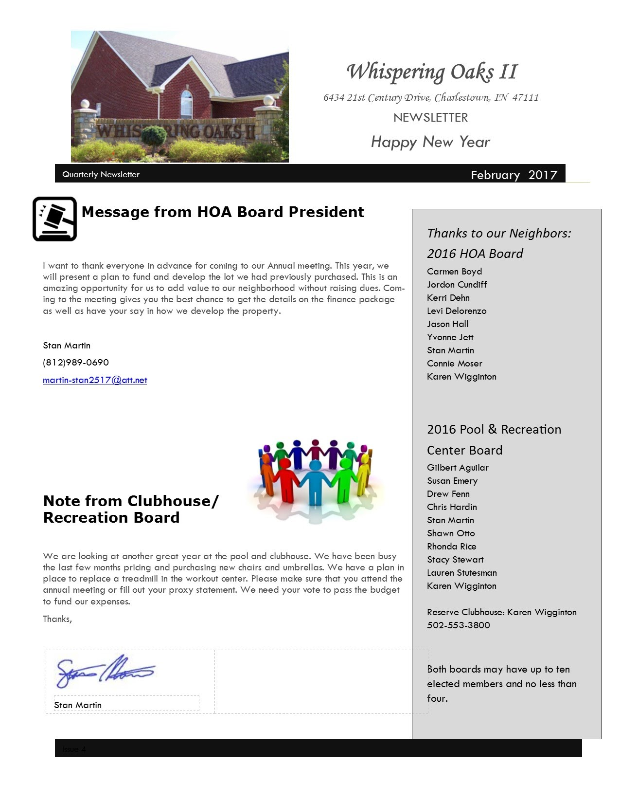 Homeowner Association Newsletters May Car Owners Manual