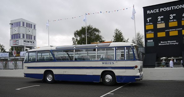 Whites Coach at Goodwood Race Circuit