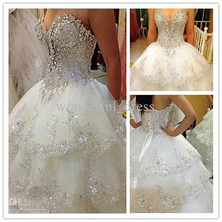 Wedding dresses sourced from DHGate.com