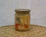 sauerkraut repacked in small jar