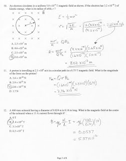 9a  Magnetism Part 1 Practice Test Solutions - Windy Physics