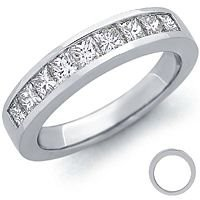 Channel Set Platinum Wedding Band 80 Cool This is what my