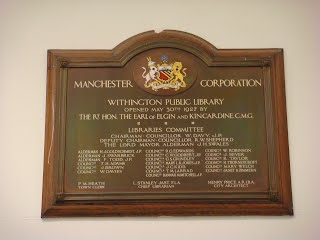 Withington Library - plaque