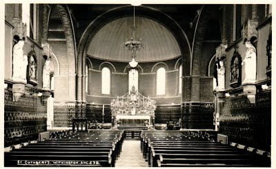 Old photograph, St Cuthbert's Catholic Chirch Withington
