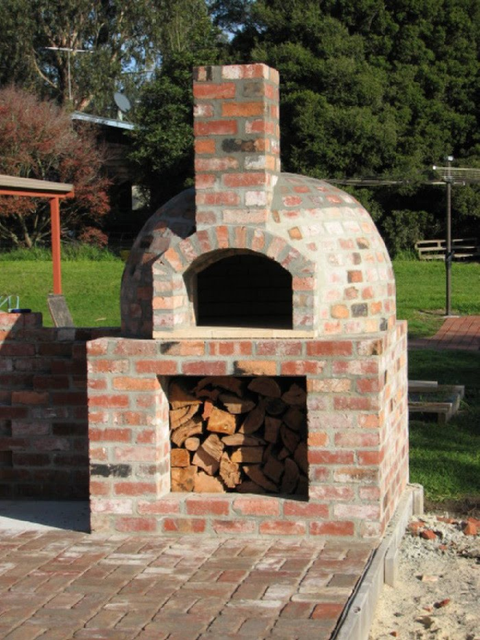 of the ovens built by participants of the wood fired oven workshops
