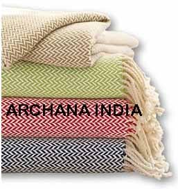 thermal cotton blanket. COTTON BLANKETS - HERRINGBONE Thermal Cotton Blanket