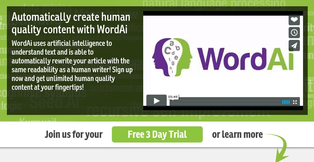 Exclusive} WordAi Discount Coupon Code - Get Free Trial