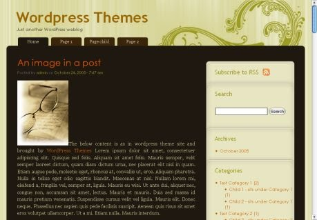 Vintage Stripes 1.0 WordPress Theme