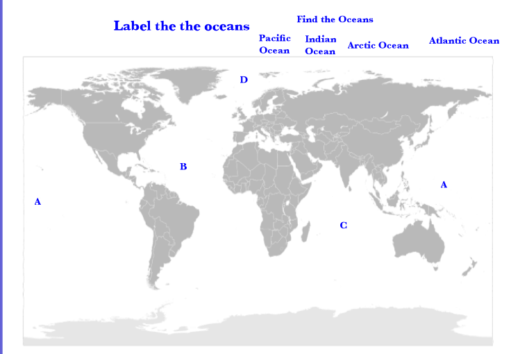 Study Guide For Map Quiz On August Th World History Ms - World map oceans and continents quiz