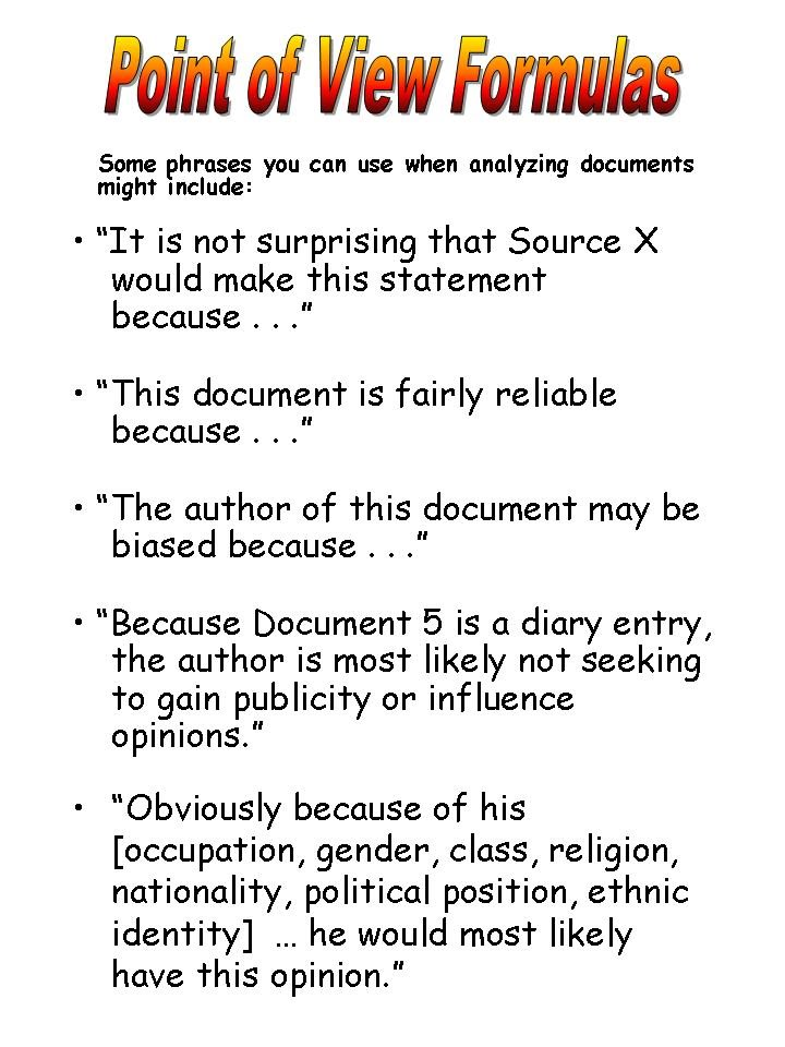The Document Based Question  DBQ  Essay