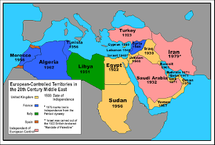 Middle East World Map War in the Middle East   World War 1   Class 1
