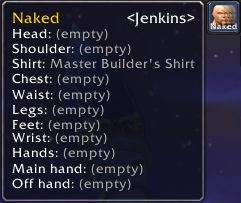 A gear set's tooltip with a title preview to the right of its name.
