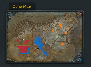 Zul'drak's patrols on the Battlefield Minimap.