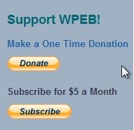 Donate Support WPEB-FM Philadelphia @ScribeVideo Center 215.222.4201