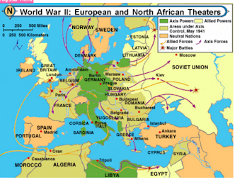Section 3 battles and geography of wwii ww2portfoliosite europe after world war ii three big battles in the european theatre during wwii gumiabroncs Gallery