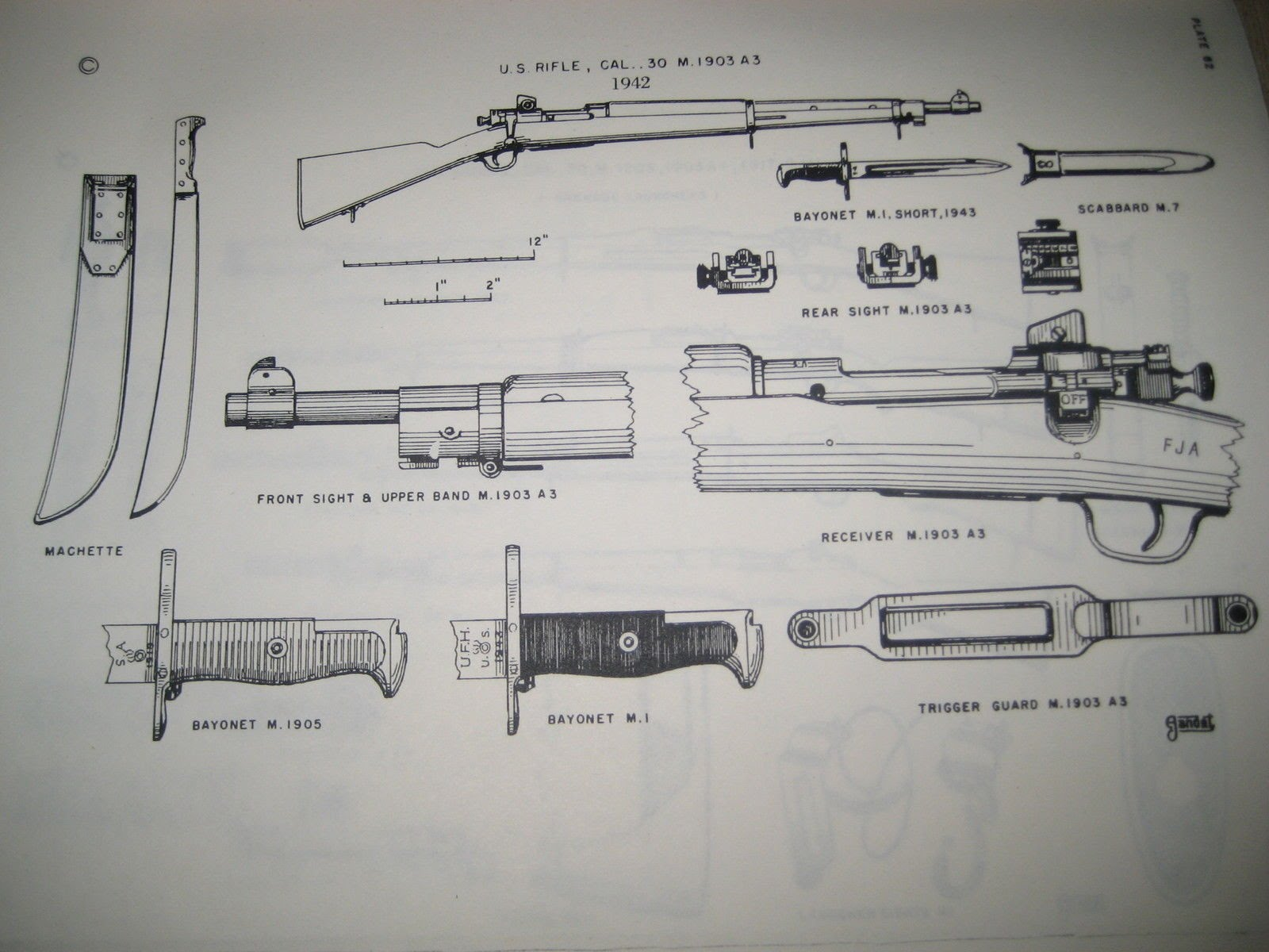 Parts       Diagram     WWII 1903a3 serial  3731435